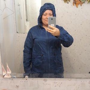 Chadwick's Blue Windbreaker Jacket with Hood